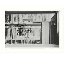 Jane Austen Library Art Print