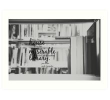 Jane Austen Library Art Print