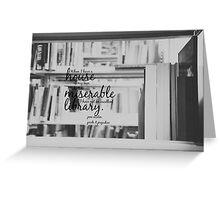 Jane Austen Library Greeting Card
