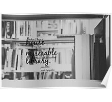 Jane Austen Library Poster