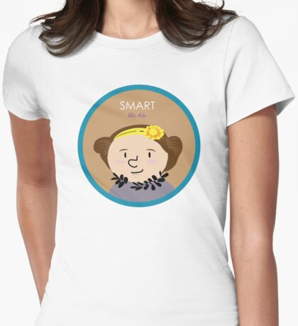 Smart like Ada Womens Fitted T-Shirt