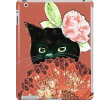 The Fan Cat Art White Background iPad Case/Skin