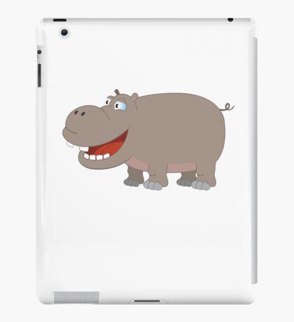 Cute funny cartoon hippo iPad Case/Skin