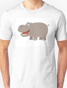 Cute funny cartoon hippo Unisex T-Shirt