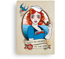 Navy Girl Canvas Print