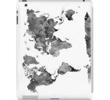 World map in watercolor gray iPad Case/Skin