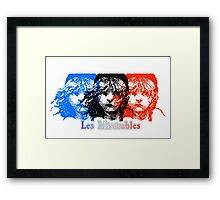 Les Miserables - Flag Framed Print