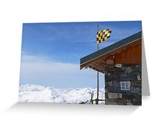Hut with a view Greeting Card