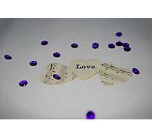 Love and Music (Forever in our Hearts) Photographic Print