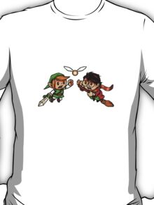 harry potter vs zelda T-Shirt