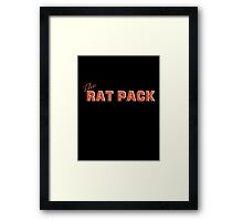 The Rat Pack, Frank Sinatra, Sammy Davis, Dean Martin. Framed Print