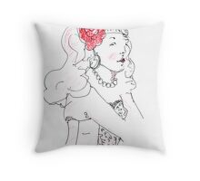 Miss Nic Throw Pillow