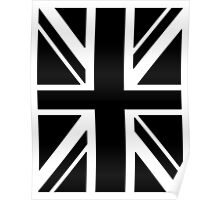 BRITISH, UNION JACK, FLAG, UK, UNITED KINGDOM, IN BLACK Poster