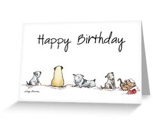 Birthday Dogs Greeting Card