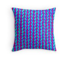 knitted hand made Throw Pillow
