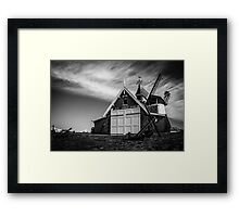 Lytham Lifeboat House &  Windmill Framed Print