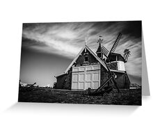 Lytham Lifeboat House &  Windmill Greeting Card