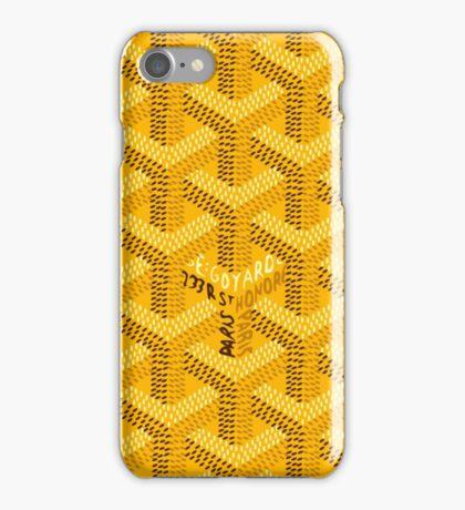 Goyard - Yellow iPhone Case/Skin