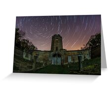 Ravensworth Castle Startrails Greeting Card