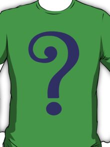 The Riddler  (Purple Question Mark) T-Shirt