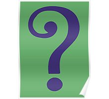 The Riddler  (Purple Question Mark) Poster