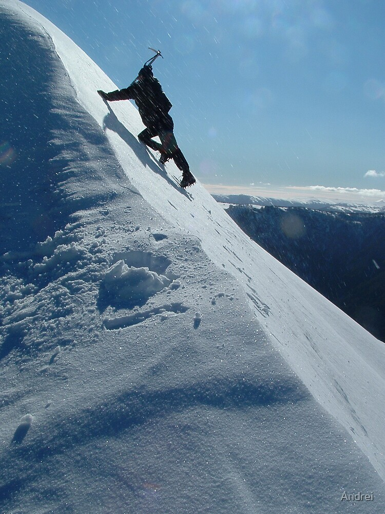 Approaching summit of Mt.Feathertop, Australia, winter 2005 by Andrei