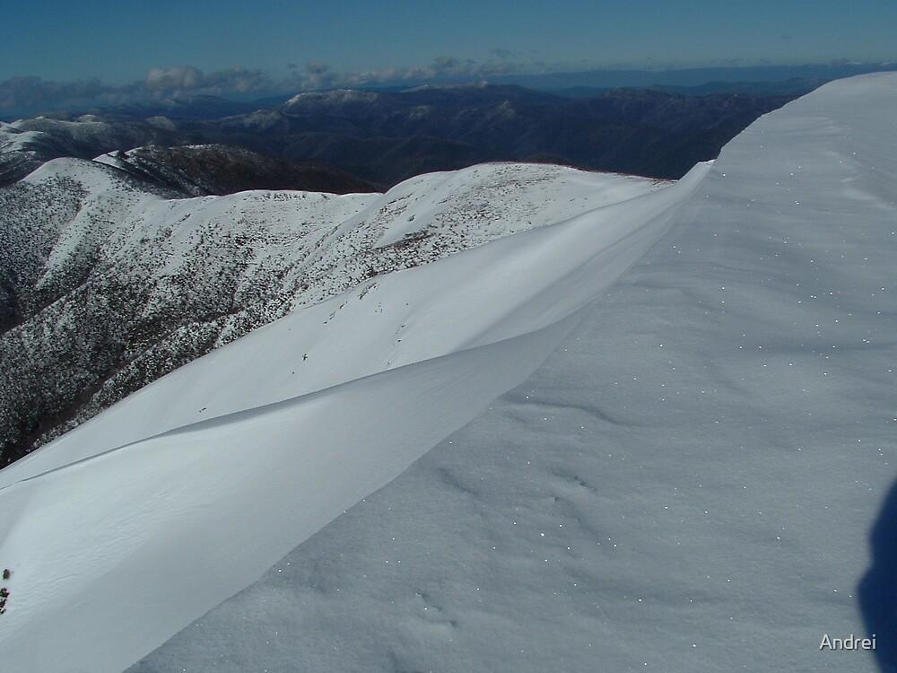 Australian snowy ridge by Andrei