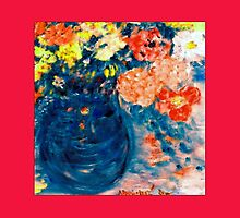 Romance Flowers in Blue Vase Designer Art Decor & Gifts by innocentorigina