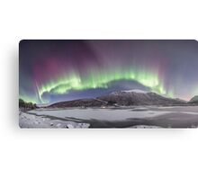 Northern Lights Panorama Metal Print