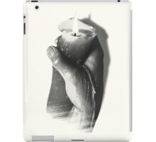 hand with candle iPad Case/Skin