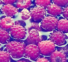 Raspberries in water by mayalenka