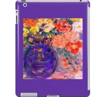 Romance Flowers in Purple Vase Artist Decor & Gifts iPad Case/Skin