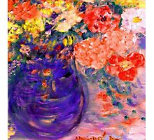 Romance Flowers in Purple Vase Artist Decor & Gifts Photographic Print