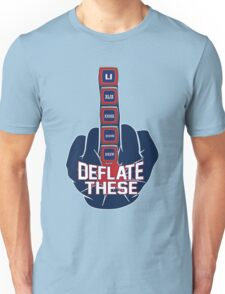 Deflate These - 5 Rings Middle Finger Fist Unisex T-Shirt