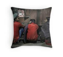 Agra Station Throw Pillow