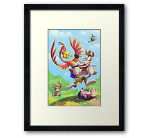 Bear and Bird Grand Adventure Framed Print