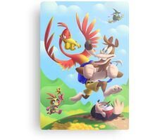 Bear and Bird Grand Adventure Metal Print