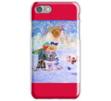 Skaters in Love Decor & Gift by Marie-Jose Pappas iPhone Case/Skin