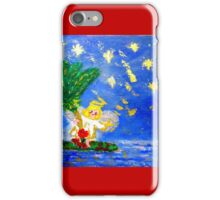 Angel in the Tropics Designer Art Decor & Gifts Red iPhone Case/Skin