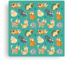Whole Lotta Cat (Natural version) Canvas Print