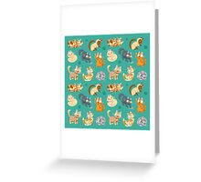 Whole Lotta Cat (Natural version) Greeting Card