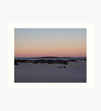 sunrise at Lancelin2 Art Print