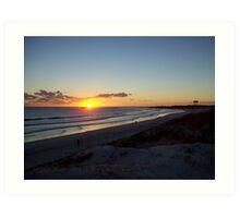 sunset at Lancelin3 Art Print