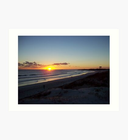 sunset at Lancelin3 Art Print