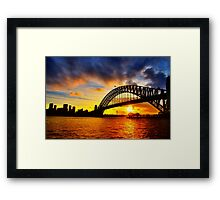 Sydney Harbour Bridge Sunset Framed Print