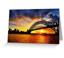 Sydney Harbour Bridge Sunset Greeting Card