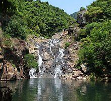 The Hidden Waterfall - Hong Kong. by Tiffany Lenoir