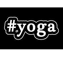 Yoga - Hashtag - Black & White Photographic Print