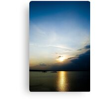 A beautiful evening Canvas Print