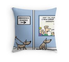 obedience training  Throw Pillow